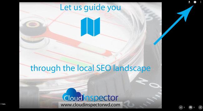Edit the google local image information