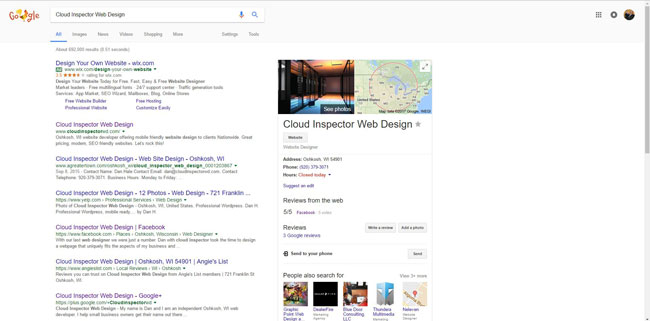 Knowledge graph from Google search results